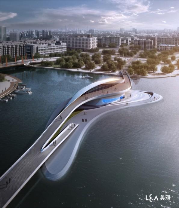 Wuxi Xidong Park Bridge / L&A Design Group